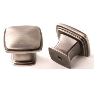 FK-81091.APH 32mm Square Knob Satin Pewter (404)