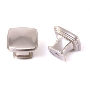 FK-81091.SN 32mm Square Knob Satin Nickel (304)